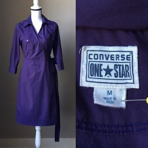 Size M Converse Purple Wrap Dress